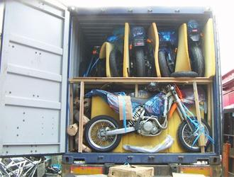 Loaded shipping container