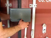 shipping container lockbox