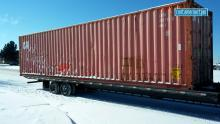 Shipping container in Denver Colorado, Snowy