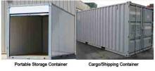 Cargo container vs. storage container
