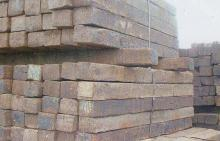 Railroad ties for shipping container foundation