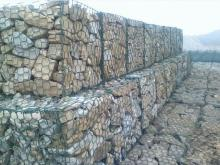 Gabion basakets for burying a shipping container